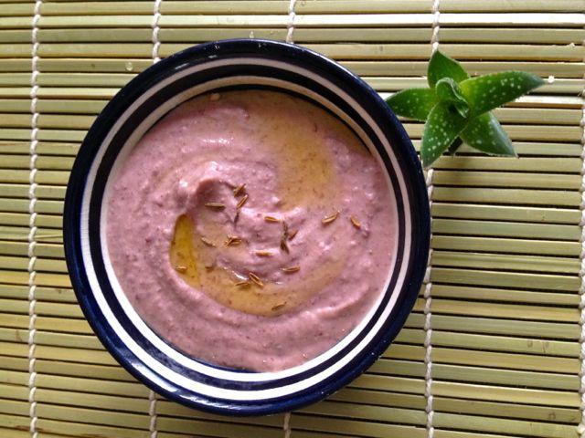 Hummus z červených fazolí