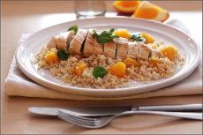 Kuře s pomerančovou rýží