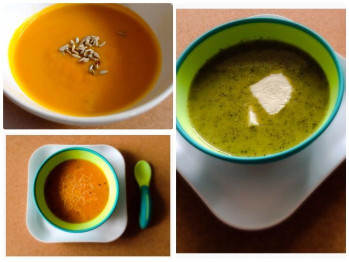 3x barevná polévka pro děti z vaší zahrádky