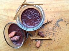 Chia semínka a čokoládový pudink