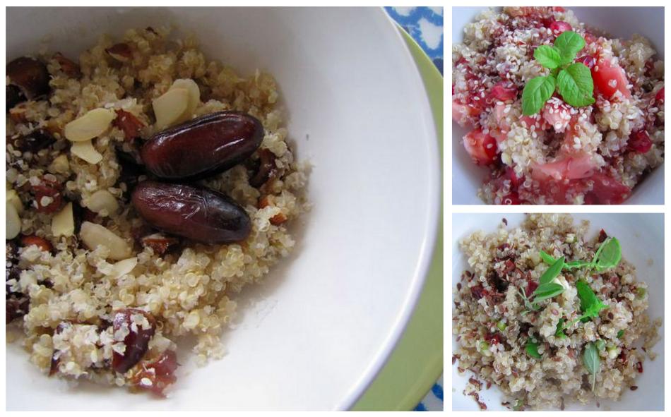 3× quinoa k snídani